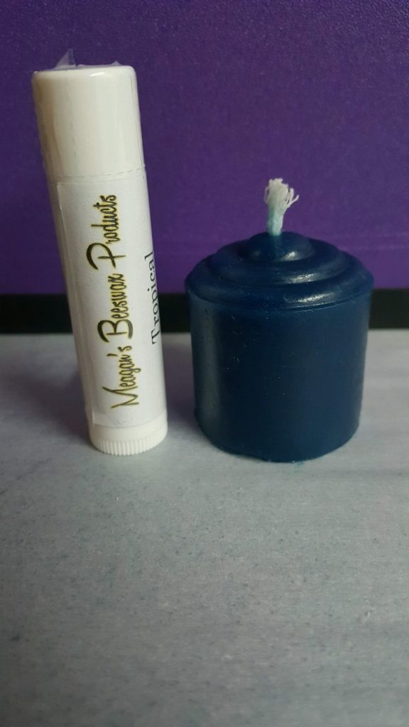 BRBS lip balm and candle